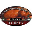 10010 Grade A Turkey Supermarket Deli Sticker Roll (500 Labels Per Roll)