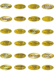 Gold Cheese Supermarket Deli Sticker Roll (500 Labels Per Roll)