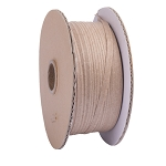 05-230 Beige Biodegradable Twist Tie Ribbon Single 27 Gauge Wire  230 ft. (5 Spools per Case)