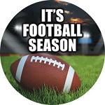 100146 It's Football Season Promotional Label Roll (500 per Roll)