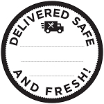 100237 Delivered Safe and Fresh! Deli Sticker Roll (250 Labels Per Roll)