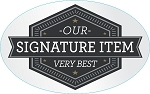 100325 Our Very Best Signature Item Deli Sticker Roll (500 Labels Per Roll)