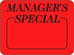 10059 Manager's Special Promotional Sticker Roll (1000 Labels Per Roll)