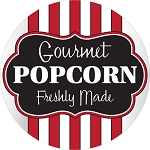 100861 Gourmet Popcorn Freshly Made Deli Sticker Roll (500 Labels Per Roll)