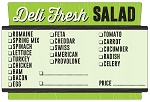 100894 Deli Fresh Salad Check Off Sticker Roll (500 Labels Per Roll)