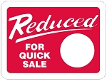 10089 Reduced For Quick Sale Promotional Sticker Roll (1000 Labels Per Roll)