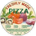 10345 Freshly Made Pizza Check Off Deli Label Roll (250 per Roll)