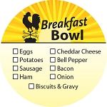10535 Breakfast Bowl Check Off Deli Label Roll (500 per Roll)