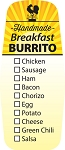 10594 Breakfast Burrito Check Off Deli Label Roll (500 per Roll)