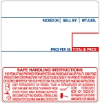 LABCAS0005 <br>CAS 58mm x 60mm UPC Safe Handling Instruction Labels