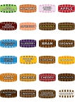 Small Bakery Flavor Labels Mix and Match 10 Rolls (97 Designs Available)