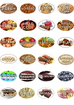 Flavor/Ingredient Bakery Labels Mix and Match 10 Rolls (150 Designs Available)