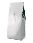 5.4 mil 4 Ply Foil Gusseted Pouch WITH Valve No Zipper<br>5 LB. (2.2kg) 6-7/8 x 19-1/4 x 4-3/4 (175mm x 490mm x 120mm)