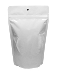 SUPWHI 4 mil White Foil Nylon/Poly Stand Up Pouch With Zipper, Hang Hole and Tear Notches No Valve