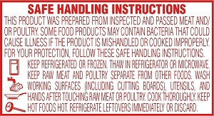 "10711 1""x1.75"" Red Safe Handling Instruction Labels (12,000 per case)"